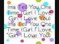 Justin Bieber - One Time Lyrics