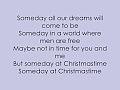 Justin Bieber - Someday At Christmas W/ Lyrics