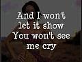 Rihanna - Cry, With Lyrics